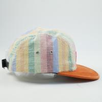 シュプリーム SUPREME 14SS Striped Suede/Linen Camp Cap キャンプキャップ オレンジ Size【フリー】 【新古品・未使用品】