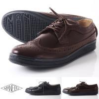 マネブ MANEBU 革靴 / 英国のドレスシューズに見られるウィングチップを採用した定番 【特徴】...