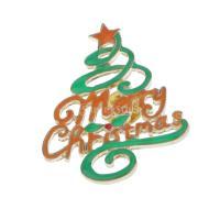 ノーブランド品ブローチ ピン  デコレーション ギフト クリスマス用 贈り物 装飾 クリスマスパーティー メリークリスマス ツリー形
