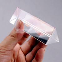 【ノーブランド品】三角プリズム 物理学 光の実験 教育 光学ガラス製 10cm