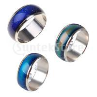 ノーブランド品 カッコイ 変色 リング 指輪  mood ring ギフト 3サイズセット