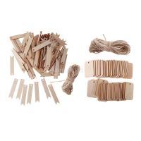 Perfk 木製タグ 混合 ブランク アクセサリー パーティーボード ロープ付き 約150枚入り