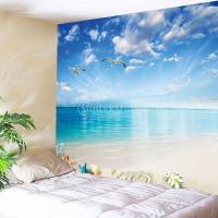 タペストリー 自然風景 3D 壁掛け 防水 海 夏 おしゃれ テーブルクロス インテリア 180x180cm 贈り物