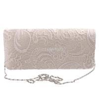 ノーブランド品  6色 女性 結婚式 財布 ブライダル ショルダー クラッチバッグ チェーン ハンドバッグ  - ベージュ