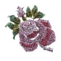 Baoblaze 1個 薔薇デザイン ブローチピン キラキラ ファッション 可愛い ギフト