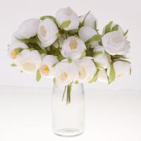 Perfk 花束作り 花 ブーケ インテリア フラワー 結婚式 お祝い 飾り ギフト DIY花束 束 全13色 - ホワイト2