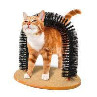 猫 お手入れ 髪の除去 マッサージ グルーミング アーチ ブラシ スクラッチ パッド おもちゃ 毛づくろい