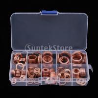 銅ワッシャ 電気ワッシャセット ボックス 銅リング 9サイズ 約200個