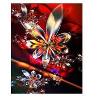 5D ダイヤモンド絵 刺繍クロスステッチ キット アート 装飾 全6種 - 花