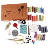 プロ 縫製キット 裁縫道具セット 木製ケース 大人 小学生 小学校 男の子 女の子
