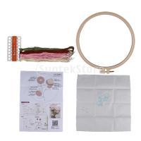 クロスステッチキット DIY 手作り 刺繍キット 刺繍糸 刺繍フープ 針 刺しゅうキット