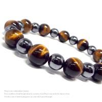 天然石 パワーストーン ブレスレット メンズ アクセサリー 限定特価 イエロータイガーアイ ヘマタイト