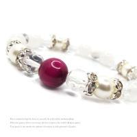天然石 パワーストーン ブレスレット レディース アクセサリー 限定特価 ピンクタイガーアイ 水晶 ムーンストーン