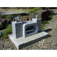 お墓用の白御影石花立と香炉のセットです。 中国産白御影石(G614)です  ステンレス花筒φ58の他...