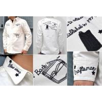 あすつく商品 STUDIO D'ARTISAN ステュディオダルチザン 刺繍レターマンワークシャツLETTERMAN EMB'D SHIRTアメカジワーク5553Long sleeve shirt