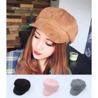 使いやすいシンプルな帽子です 後ろがゴムになっています  素材;スエード  サイズ; 58センチまで