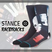 d773b2e52ec1d STANCE(スタンス日本正規品) 品番 M556D17RAC RACETRACKS レーストラック BLACK ブラック メンズ ソックス 靴下