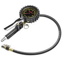 エアーゲージ 600kPaはタイヤの空気圧を測定しながら空気を入れる事ができます。1レバーで空気圧の...