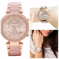 MICHAEL KORS Parker Blush Dial Rose Gold-tone and ...