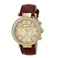 MICHAEL KORS Chronograph Gold Dial Ladies Watch  大...