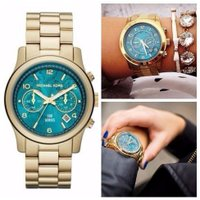 Women's Hunger Stop MK5815 Gold Stainless-Steel Qu...
