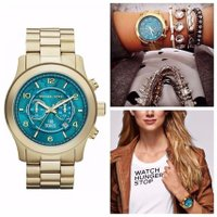 Women's Hunger Stop MK8315 Gold Stainless-Steel Qu...