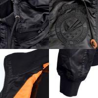 ジャケット ブルゾン 中綿 ミリタリージャケット スタンドリブ ワッペン付き アウター メンズ