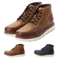 ブーツ ショートブーツ レースアップブーツ 防水 異素材 バイカラー 機能性 靴 シューズ メンズ ...