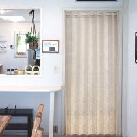 カーテン アコーディオンカーテン 目隠し 約巾150X丈200cm ロング アールデコ IV 日本製 送料無料