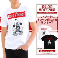 ■商品説明 抜群の存在感を放つミッキーTシャツが入荷!  今季トレンドのスタイリッシュなボックスロゴ...