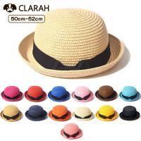 ●商品名:麦わら帽子 オシャレ 折りたたみ たためる カンカン帽 キッズ ストローハット 子ども 子...