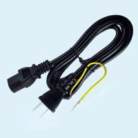 AC電源ケーブル 3ピンソケット(メス)⇔2ピンプラグ(オス) 1.2m PSE認定品 ACコンセント コネクタ アース線付き SUCCUL