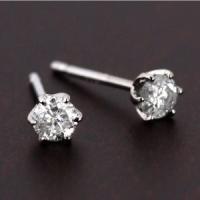 ダイヤモンド ピアス プラチナ   耳元に最高の煌めきチャーミングなキラキラピアス 輝きをまとってお...