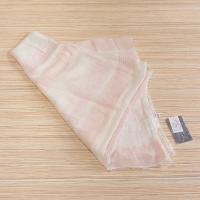 桜染 蚊帳織りガーゼストライプ ストール 春夏秋 日本製 さくら 草木染 ふんわり 軽い