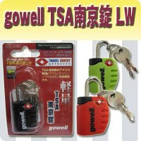 【商品名】gowell(ゴーウェル) TSA 南京錠 LW【詳細寸法】 47mm / 22mm / ...