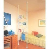 部屋の間仕切りや、小物掛けとして便利な伸縮間仕切りです。天井にポールを突っ張らせて設置するだけで簡単...