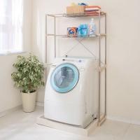 収納に困りがちな洗濯機周りを、有効に活用できるステンレスランドリーラックです。丈夫でさびにくいステン...