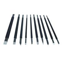 商品内容  計 10本入り  専用:木箱付属  篆刻刀10種類セットになります。刃幅8mmから3mm...