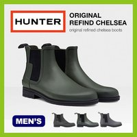 HUNTER BOOTS ハンター メンズ オリジナル リファインド チェルシー レインブーツ 靴 ...