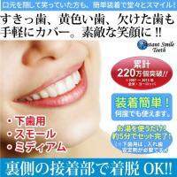 インスタントスマイル 下歯用 スモール ミディアム 部分抜け歯専用つけ歯 義歯 入れ歯 つけ歯 仮歯 審美歯