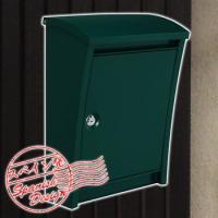 スタイリッシュポスト グリーンカラー 鍵付き 壁付けタイプ 送料別'|sungarden-exterior