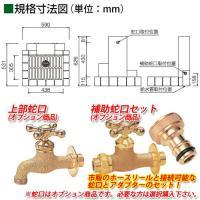 nikko 立水栓ユニット ウッドクリートタイプ 二口水栓柱+角型パンセット 蛇口別 送料無料 sungarden-exterior 03
