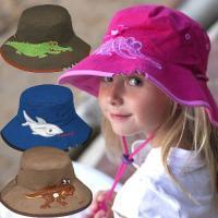 紫外線対策とファッションを追求した帽子キッズに大人気のクロコダイルのハットです♪日本にはないタイプ?...