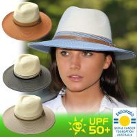 紫外線対策とファッションを追求した帽子 洗練されたレディース ハット。サイズ:58cm ※帽子の内側...