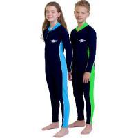 UVカット 水着(子供用) - ジュニア スイムスーツ 長袖 ※紫外線カット(UVカット)最高値UPF50+