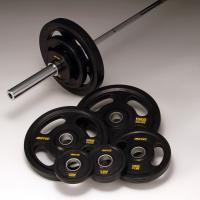 上質ラバーを全面コーティングした穴径φ50mmのオリンピックモデル。 あつかいやすく安全性を考慮し、...