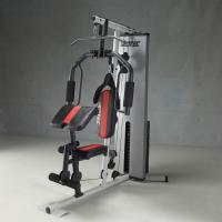 重量調節はピン1本で操作できるウェイトスタック方式 最大200ポンド(約90キロ)まで設定できます。...