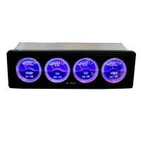 オーディオマルチメーター 1DIN 4連メーター 温度計/電圧計/オーディオレベル アナログレベルメーター 全2色【レッド/ブルー】 ブレイス|supercal-store|03