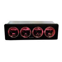 オーディオマルチメーター 1DIN 4連メーター 温度計/電圧計/オーディオレベル アナログレベルメーター 全2色【レッド/ブルー】 ブレイス|supercal-store|04