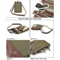 シザーバッグ シザーケース メンズ 配色 キャンバス × フェイクレザー 2way ショルダーバッグ